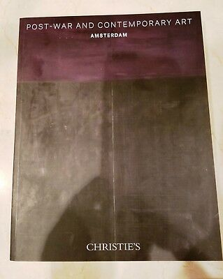 Brand NEW Christie's Post War And Contemporary Art Amsterdam 12-13 December 2017