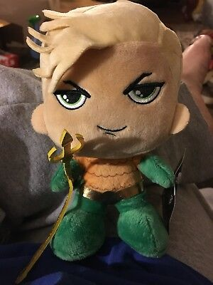 Marvel Wonder Aquaman 8 Inch Plush Plushie Doll New With Tags Retail $8 Wow