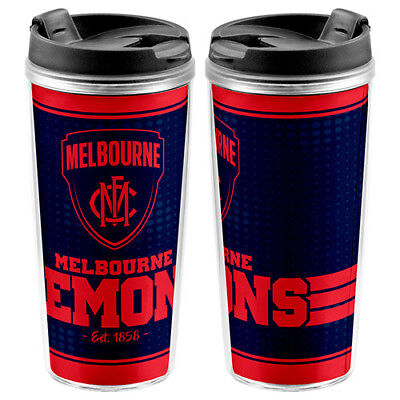 Melbourne Demons AFL TRAVEL Coffee Mug Cup Drink Work School Lunch 250ml Gift