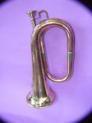 Vintage Solid Brass & Copper  Army Military Bugle Collectibles