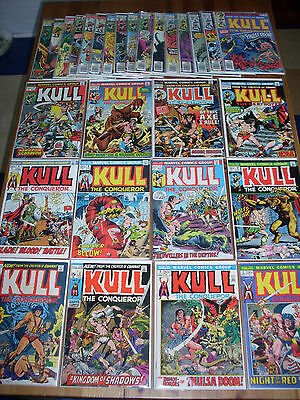 Kull #1 - 29, High Grade Complete Series, 1971, many pics & actual size scans