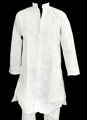 Indian Traditional Bollywood Embroidered 100% Kurta Pajama Mens Wear Ethnic