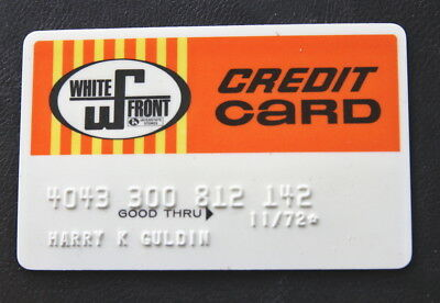 White Front Stores 1972 Vintage Credit Card RARE Card