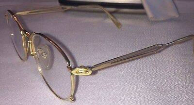 Very Rare Vintage Jean Paul Gaultier Gold Plated 55-2177 49-19-145 2F 10 Eyeglas