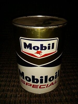 vintage full can Mobil Co motor oil Mobil oil special new old stock nos
