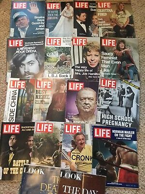 Lot of 16 LIFE (1971) and 2 LOOK (1967) magazines