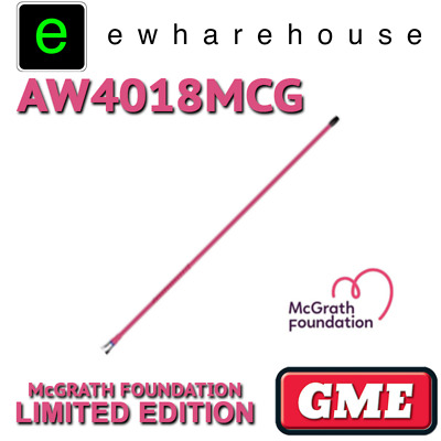 Gme Aw4018Mcg Pink Mcgrath Foundation Limited Edition Uhf Cb Aerial Antenna Whip