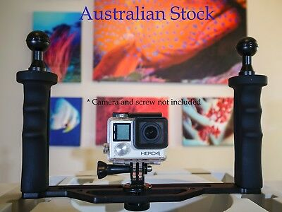 Dual Handle Underwater Video and Camera Tray for GoPro, SJCAM, TG5 etc