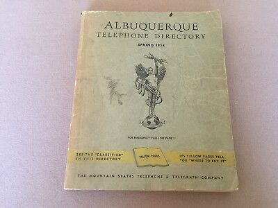 Vintage 1954 ALBUQUERQUE New Mexico Telephone Directory Yellow Pages Ads