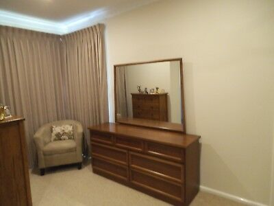 timber dressing table 7 drawers
