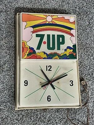 "Vintage 1970`s 7up ""Super Mod"" Peter Max Groovy wall clock"