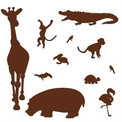 RoomMates Brown Animal Silhouettes Peel & Stick Wall Decal MegaPack