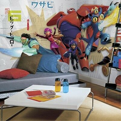 RoomMates-Big Hero 6 XL Chair Rail Prepasted Mural 6' x 10.5'- Ultra Strippable