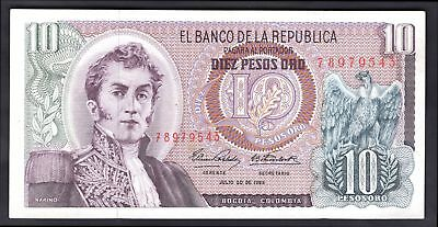 Colombia: El Banco De La Republica. 10 pesos. 7-20-1965. 78979543. (Pick 407c...