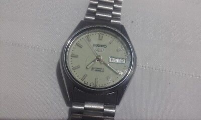 Seiko 5 automatic 17 jewels mens watch for parts -restore