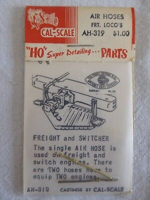 Cal Scale Ho Parts Ah-319 -  Air Hoses Front Locos - New Unopened Packet