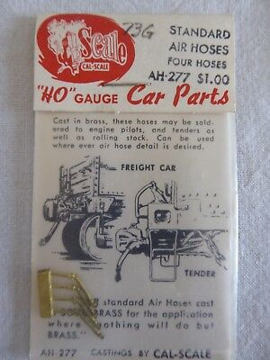 Cal Scale Ho Parts Ah-277 Standard Air Hoses - Four Hoses - New Unopened Packet