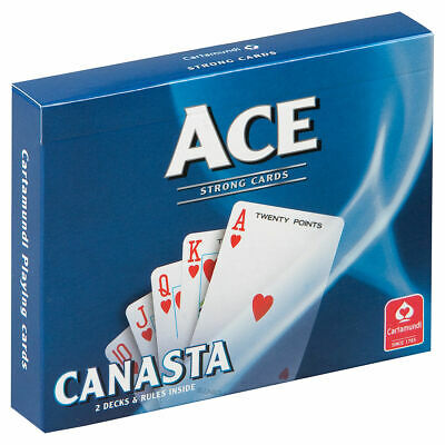 Cartamundi Ace Strong Playing Cards - 2 Decks and Rules Inside