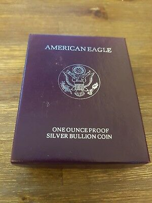 USA - 1991 - SILVER AMERICAN EAGLE - ONE OUNCE PROOF COIN in lovely display box