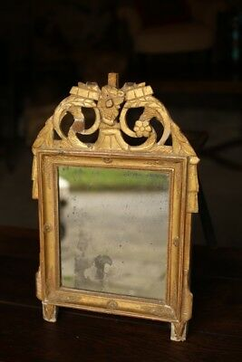 18th Century French Gilt mirror with distressed glass