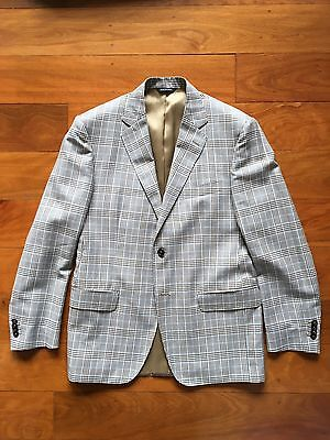 Baldassari/Henry Bucks Italian-made Slim Check Summer Blazer - 50R