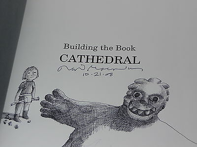 Building the Book Cathedral by David Macaulay (1999, Hardcover) - Signed!