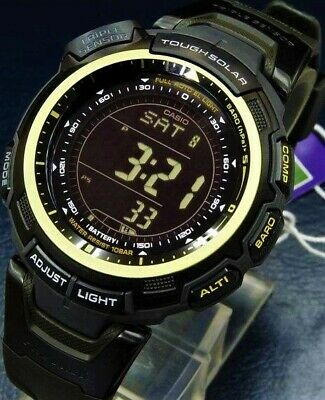 Brand New Casio Prg-110C-1 Protrek Tough Solar Triple Sensor Limited Genuine