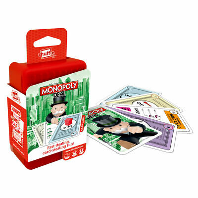 Shuffle Monopoly Deal Card Game - Fast-Playing Travel Pack Word Game