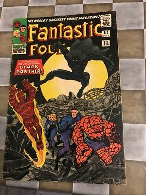 Marvel Comics Fantastic Four  #52 1St Appearance Black Panther
