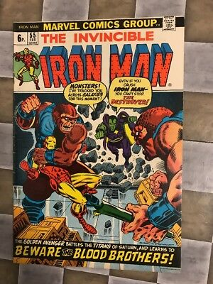 MARVEL COMICS. THE INVINCIBLE IRON MAN #55. 1st APPEARANCE OF THANOS.