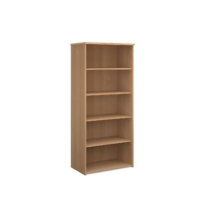 BiMi Tall Shelves Office Storage Bookcase In Beech, Maple, White, Oak, Walnut