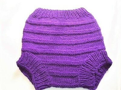 Hand Knitted Wool Handmade Cloth Diaper Cover baby cover size Large 12-18 Months