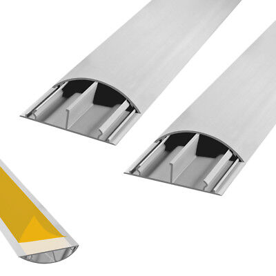 Cable Channel Self Adhesive Floor TV Canal 2x 1m 50 x 12 mm Cable Bridge Arli G