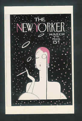 NEW YORKER Magazine cover repro Mar 7th 1925 high quality postcard D43