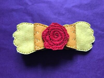 Disney Belle Beauty and the Beast Inspired Hair Bow