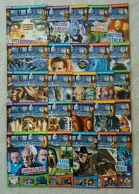 25 issues Dr Doctor Who Monster Invasion magazines job lot Parts 26-50 vgc
