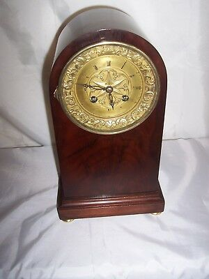 Superb Quality Early French Silk Suspension Dome Top Mantle Clock.signed H.a. .