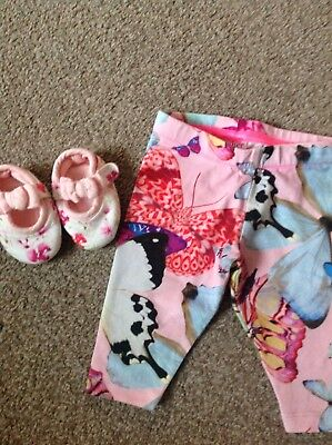 Stunning Baby Girls TED BAKER Leggings & Shoes BUNDLE Age 0-3 Mths