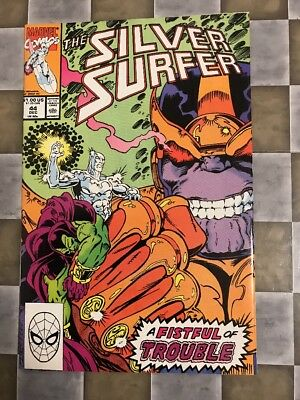 MARVEL COMICS. THE SILVER SURFER #44. 1st Infinity Gauntlet