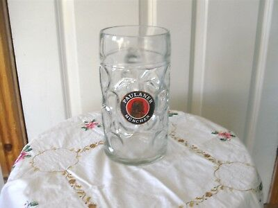 Set of 6 Paulaner 1 litre Oktoberfest glasses