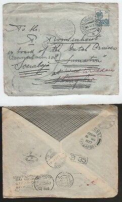 NETHERLANDS Indies 1927 Wander shipmail cover Singapore Paquebot to China