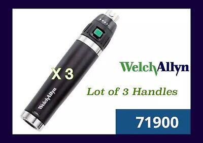 3 Welch Allyn Lithium Rechargeable Handles