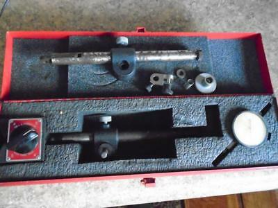 Starrett 659 Heavy Duty Magnetic Base Stand w Dial Indicator