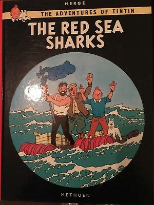 Tintin Book -The Adventures Of Tintin -The Red Sea Sharks -Herge-Methuen