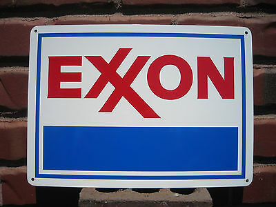 EXXON Gas Station Metal SIGN Service GASOLINE Mobil Pump Advertise Free Shipping