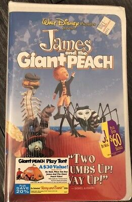 James And The Giant Peach VHS NEW Walt Disney Clam Shell Case Vintage Tape RARE!