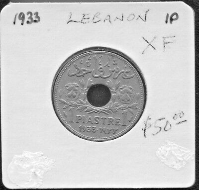 Etat Du Grand Liban, Lebanon - Fantastic Historical 1 Piastre, 1933 (Great Date)