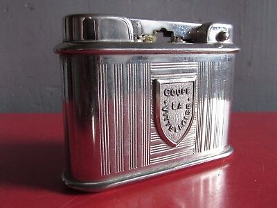 Beau Briquet De Table Essence Art Deco Coupe La Vittelloise Old Table Lighter