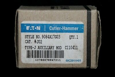 EATON CUTLER HAMMER J02 A200 Type J Auxiliary Contact 9084A17G03