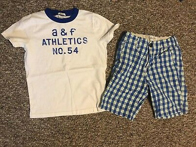 EUC ABERCROMBIE & FITCH Kid Boy Outfit Great Colors Top Med, Shorts Sz 10